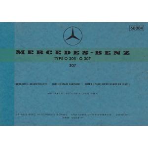 Mercedes Benz O 307 / O 307 (1973) - Ersatzteilkatalog