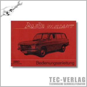 Audi Variant F103 Betriebsanleitung