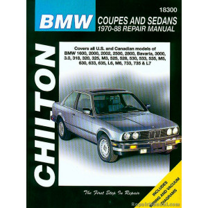 BMW Coupes and Sedans (70- 88) Repair Manual Chilton