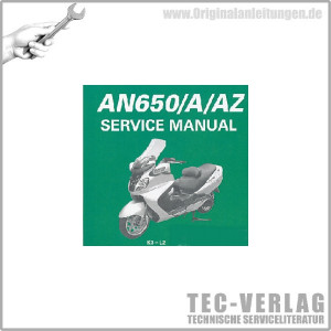 Suzuki AN650/A/AZ (03-12) - Wartungsanleitung - CD