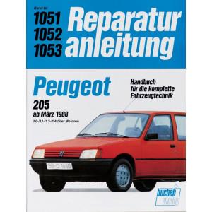 Peugeot 205 (82>) 1.0 / 1.1 / 1.3 / 1.4 Liter- Reparaturanleitung