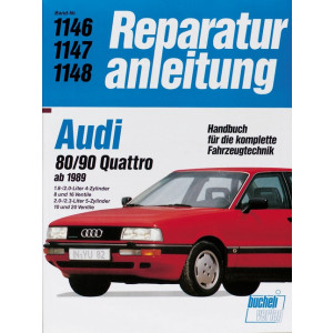 Audi 80 / 90 Quattro (89>) 1.8 / 2.0 / 2.3 L- Reparaturanleitung