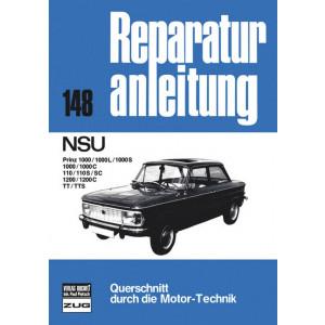 NSU Prinz 110 / 1000 / 1200 / TT / TTS- Reparaturanleitung