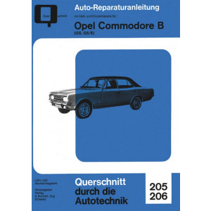 Opel Commodore B GS , GS/E- Reparaturanleitung