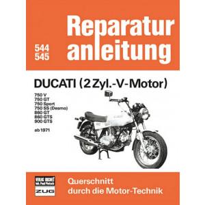 Ducati 750 V / GT / Sport / SS , 860 GT / GTS , 900 GTS (71>) - Reparaturanleitung