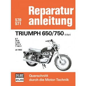 Triumph 650 / 750 TR6 / 6T / T120 /TR7V / T140V (63>) - Reparaturanleitung