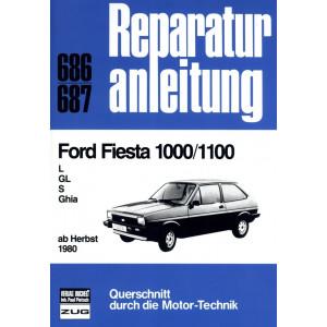 Ford Fiesta 1000 / 1100 L / GL / S / Ghia (1980-1983) Reparaturanleitung