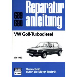 VW Golf 1,6 Liter TD Turbodiesel (1982>) - Reparaturanleitung
