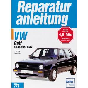 VW Golf II (84>) C / CL / GL / Carat / GTi / GTi 16V- Reparaturanleitung