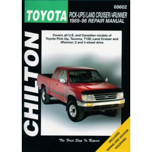 Toyota Pickup, Tacoma, T100, Land Cruiser, 4Runner (89-96) Repair Manual Chilton