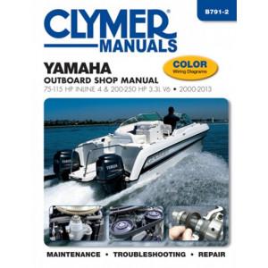 Yamaha 75-115 HP Inline 4 200-250 HP 3.3L V6 Outboard Shop Manual