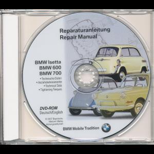 BMW 600 / 700 / Isetta (55-62) Werkstatthandbuch DVD