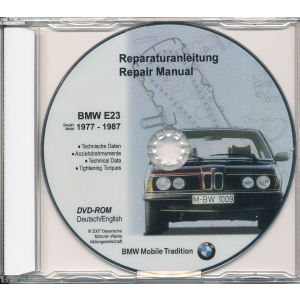 BMW 7er E23 (77-87) Werkstatthandbuch DVD