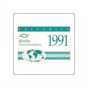 Chevrolet Beretta (91>) - Owner manual