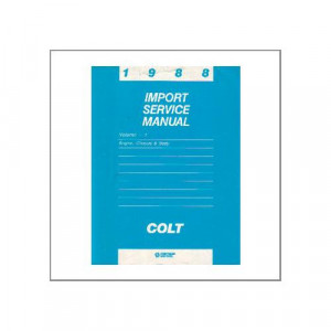 Chrysler 1988 Colt - Service Manual Engine,Chassis,Body