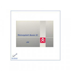 Citroen AX (91)  - Wartungsheft (unbenutzt, leer)
