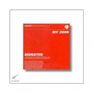 Ducati Monster 400 / 620 / 620 Dark (06>) Reparaturanleitung