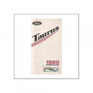 Ford Taurus 1989 - Owner Guide