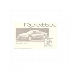 GM Buick Reatta 1989 - Owner's manual
