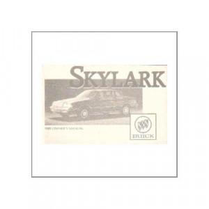 GM Buick Skylark 1989 - Owner's manual