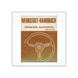 Honda Accord 1980 - Ergänzung Werkstatthandbuch