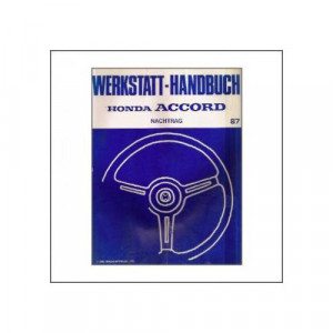 Honda Accord (>1987) - Werkstatthandbuch Nachtrag