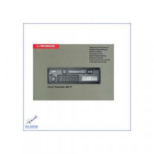 Honda Accord Civic Blaupunkt Tuner Cassette 200 R (95-96) - Autoradio - Bedienungsanleitung