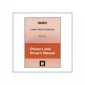 Isuzu KB Light-Duty-Vehicle (>82) - Owner`s Manual