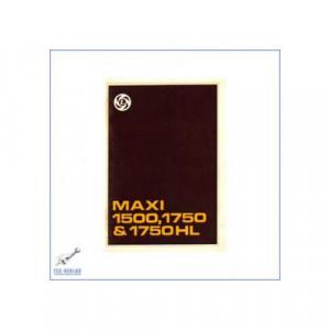 Lancia Maxi 1500, 1750 & 1750HL (ab 1978) - Bedienungsanleitung