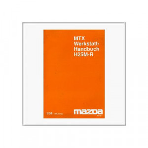 Mazda MTX Getriebe - Werkstatthandbuch