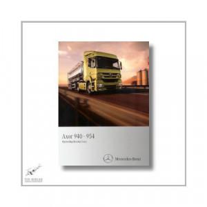 Mercedes-Benz Axor 940-954 (01>) Operating Instructions 2010