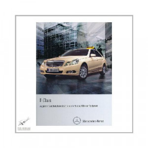 Mercedes E-Class W212 Taxi Supplement - Owner`s Manual