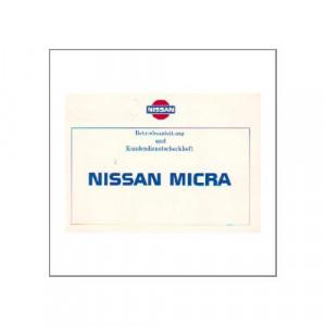 Nissan Micra - 1987 - Betriebsanleitung