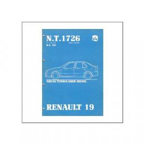 Renault 19 - Abgas-Turbolader Diesel - Werkstatthandbuch