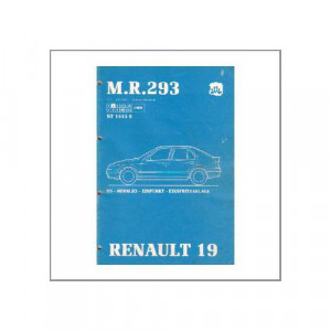 Renault 19 - Einpunkt-Einspritzanlage - Werkstatthandbuch