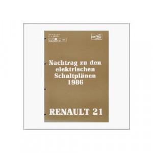 Renault 21 1986 - Schaltpläne Nachtrag