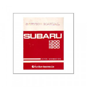 Subaru 1300,1600,1800 - Service Manual Engine and Body Supplement