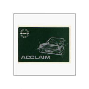 Triumph Accaim von 1981 - Betriebsanleitung
