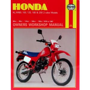 Honda XL XR 80/100/125/185/200 2-valve Models (78-87) Repair Manual Haynes