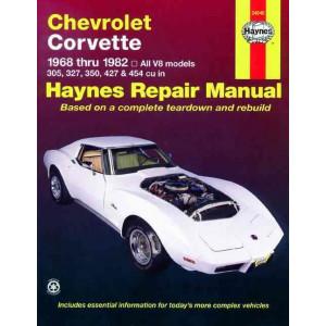 Chevrolet Corvette (68 - 82) Repair Manual Haynes