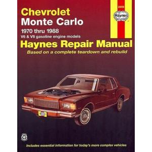 Chevrolet Monte Carlo (70 - 88) Repair Manual Haynes