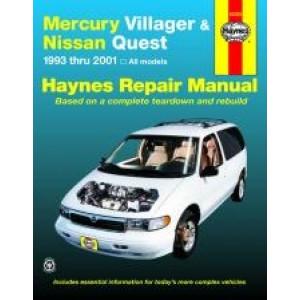 Mercury Villager (93 - 01) - Repair Manual Haynes