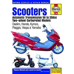 Automatic Roller 50-250 ccm Daelim / Honda / Kymco / Piaggio / Vespa / Yamaha Repair Manual Haynes