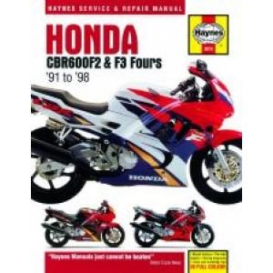 Honda CBR600F2 and F3 Fours (91 - 98) - Rpair Manual Haynes