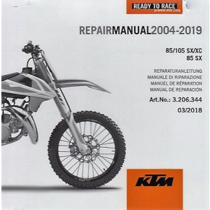 KTM 85 / 105 SX/XC 85 SX (2004-2019) - Werkstatthandbuch CD