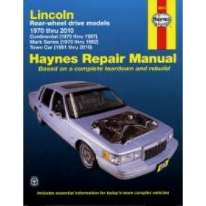 Lincoln Rear-wheel drive (70 - 10) - Repair Manual Haynes