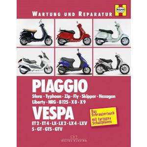 Piaggio Vespa Motorroller Reparaturanleitung Schrauberbuch Reparatur Wartung