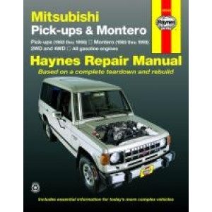 Mitsubishi Pick-up and Montero (83 - 96) - Repair Manual Haynes