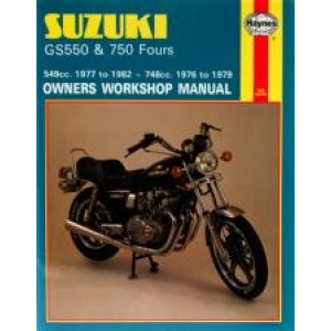 Suzuki GS550 (77 - 82) / GS750 Fours (76 - 79) - Repair Manual Haynes