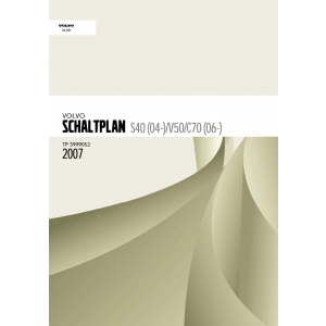 Volvo C70 Werkstatthandbuch Schaltpläne 2007